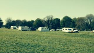 Travellers on The Downs, Bristol