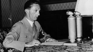 File photo: Joseph Goebbels, 18 April 1939