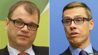 Juha Sipila (L) and Alexander Stubb