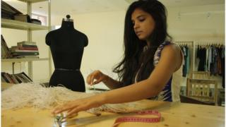 Rimzim Dadu says she likes to play with textures and different material for her designs