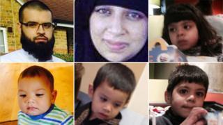Clockwise: Asif Malik, 31, Sara Kiran, 29, their daughter Zoha, seven, and three sons Essa, four, Zakariya, two, and Yhaya, one