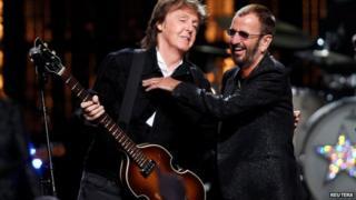 Sir Paul McCartney and Ringo Starr