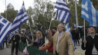 Golden Dawn supporters in Athens (20 April)
