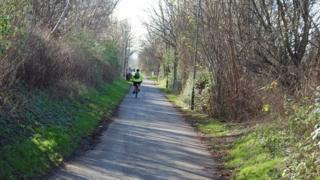 Bristol and Bath railway path at Lawrence Hill