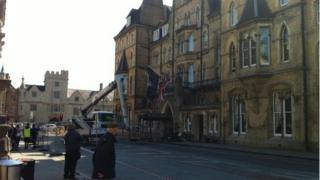 Safety checks on Randolph Hotel