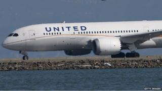 A United aircraft at San Francisco airport