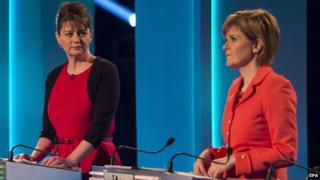 Leanne Wood and Nicola Sturgeon