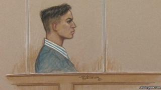 Kazi Islam - Terror trial Old Bailey - court drawing