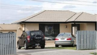 A house in Hallam, a suburb of Melbourne, where police made one of several arrest during terror raids in Melbourne, Australia,