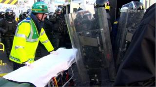 Paramedic at east Belfast riot