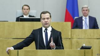 Russian Prime Minister Dmitry Medvedev, 21 Apr 15
