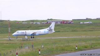 Aircraft at Sumburgh