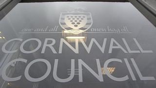 Cornwall Council sign