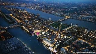 CGI of What Silvertown would look like