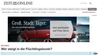 Zeit Online website