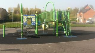 Playpark on the Dukes Park estate, Bilston