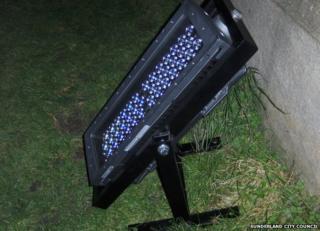 A floodlight
