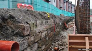 Old quay wall on Shore Street