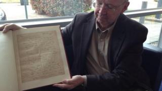 Peter Jones & manuscript