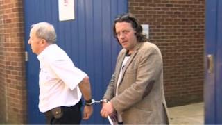 David Abbott leaving court