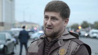 Chechen regional leader Ramzan Kadyrov in the Chechen regional capital, Grozny, Russia