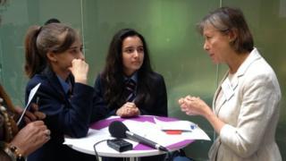 Jenny Agutter with Pimlico Academy pupils
