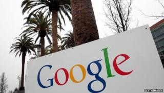 Google sign in front of palm trees