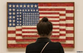 Jasper Johns' Three Flags