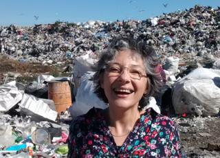 Bernarda Gallardo at the rubbish dump in Puerto Montt