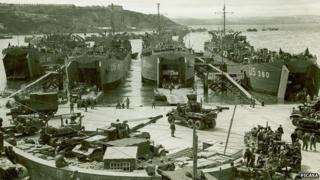 US landing ship tanks