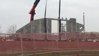 Tank memorial in Lincoln