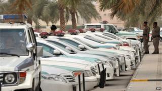 Saudi police cars (file image)