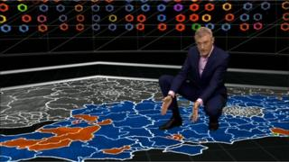 Jeremy Vine with the election map of the South