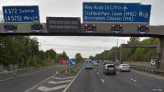 M60 junction 13 at Worsley