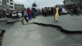 Kathmandu quake image sent in by Ashutosh Neupane