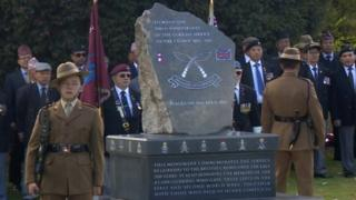 Gurkha memorial in Nuneaton