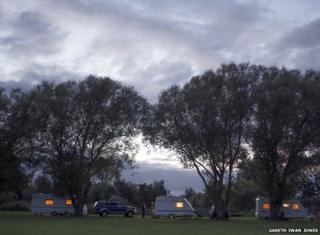 St Neots Caravan site in Bedfordshire, England