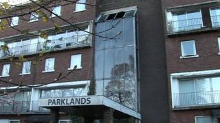 The fire was at a block of flats in Parklands, Knocknagoney