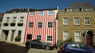 Stripy house