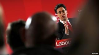 Ed Miliband speaking in Barry