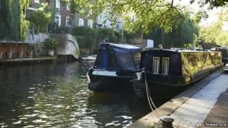 canal boats in London
