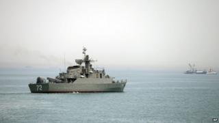 An Iranian warship in the Straits of Hormuz (file pic)