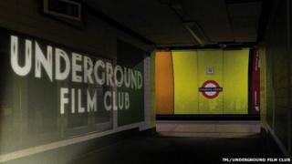 Underground Film Club in Charing Cross Tube Station