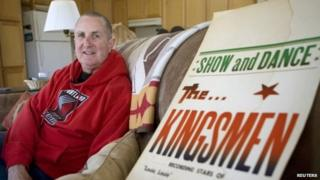 """In this April 16, 2009, file photo, Jack Ely, co-founder of the early 60""""s band The Kingsmen and best known for his 1963 rendition of the song """"Louie, Louie"""", poses for a photo at his home in Terre Bonne"""