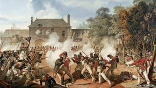 Hougoumont Farm was the site of a key clash during the Battle of Waterloo