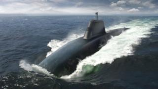 Artists impression of Vanguard submarine replacement