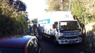 A removal truck left Gorse Hill in Killiney on Wednesday
