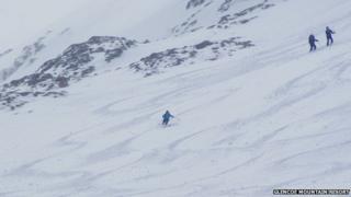 Snow at Glencoe Mountain