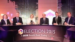 From left: Jenny Jones, Michael Fallon, BBC presenter Polly Evans, Mark Reckless, Peter Kyle, Norman Baker