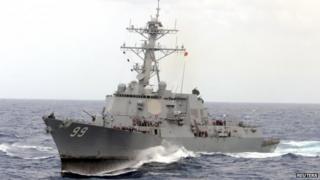 Guided-missile destroyer USS Farragut (file)